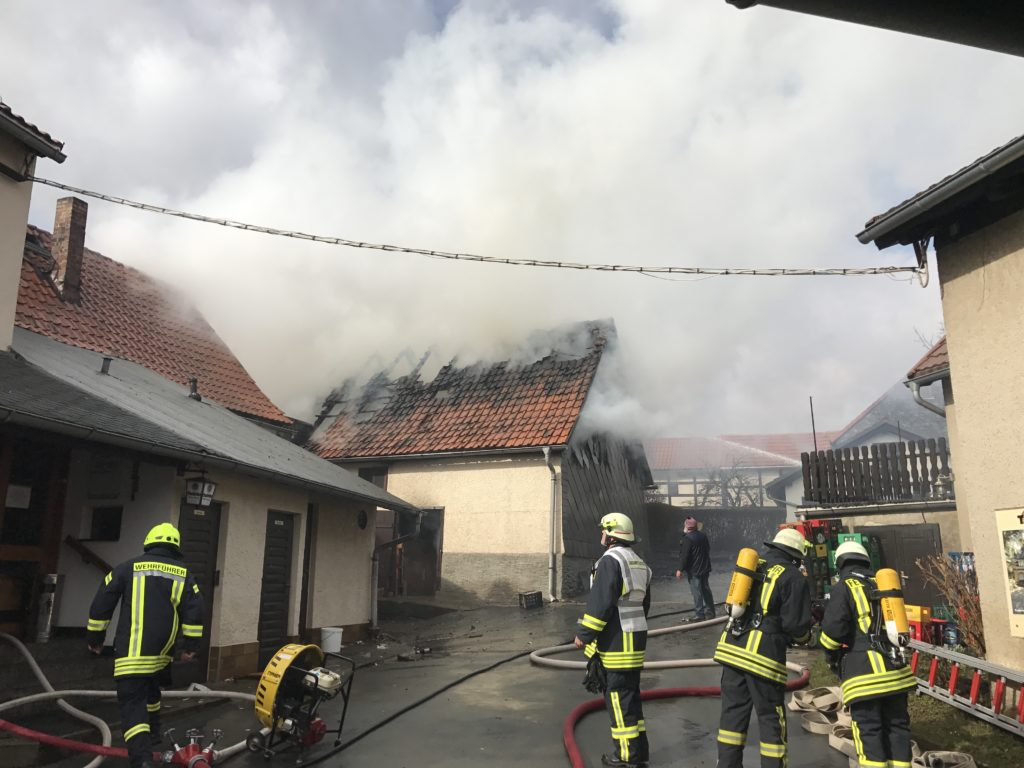 Scheunenbrand Drognitz
