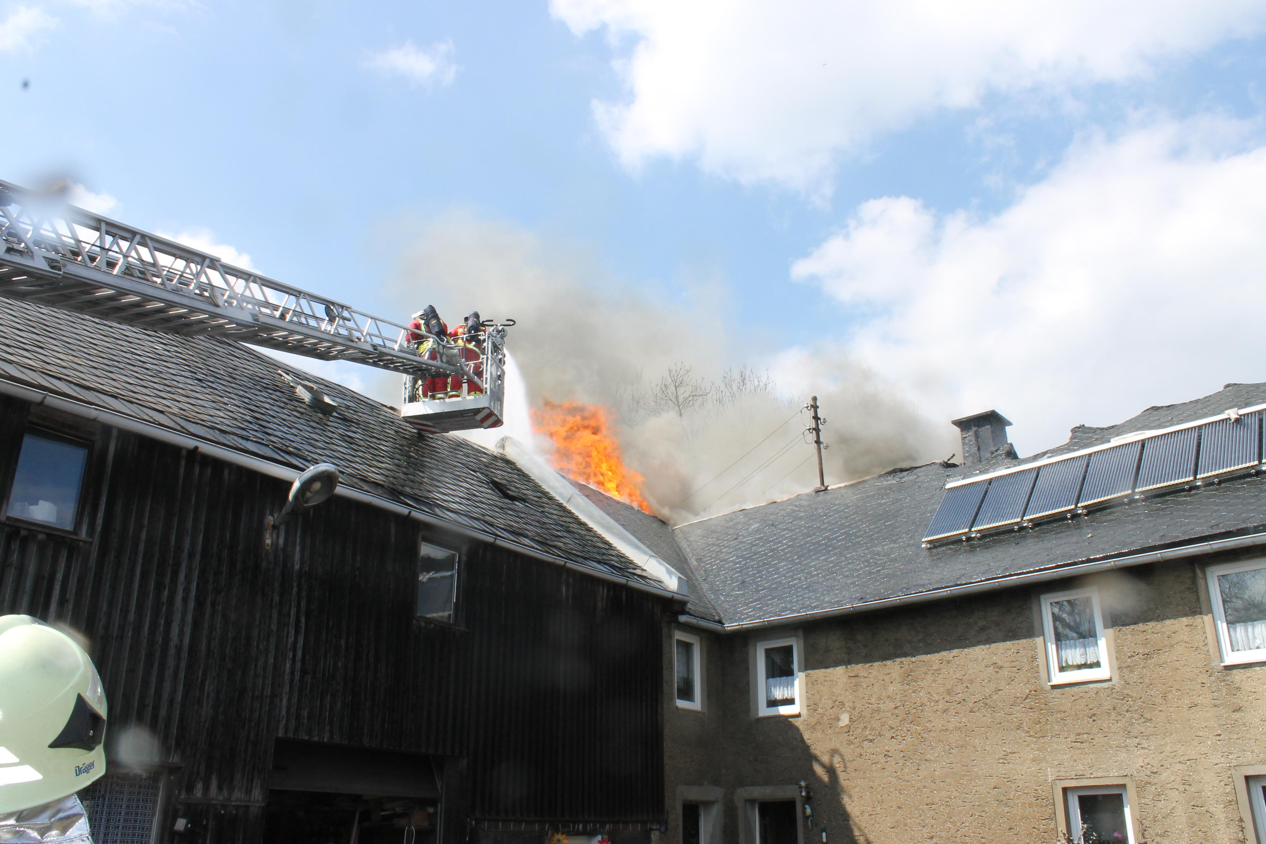 Wohnhausbrand Haidenfeld